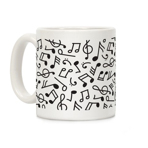 Musical Note Pattern Coffee Mug
