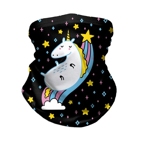 Unicorn On Rainbow Neck Gaiter