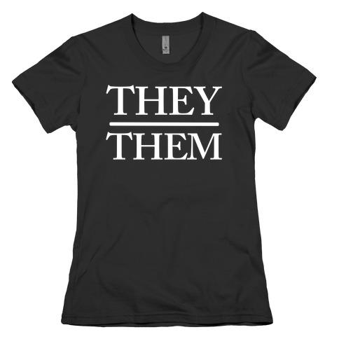 They/Them Pronouns Womens T-Shirt