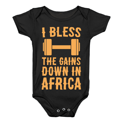 I Bless the Gains Down in Africa Baby Onesy