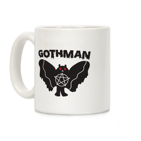 Gothman Goth Mothman Coffee Mug