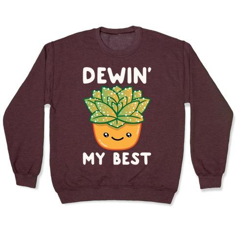 Dewin' My Best White Print Pullover