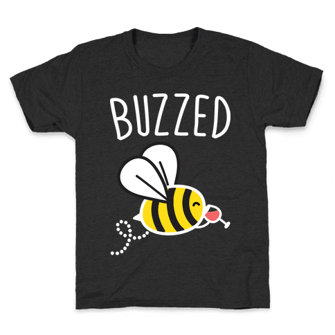 Buzzed Wine Bee Kids T-Shirt