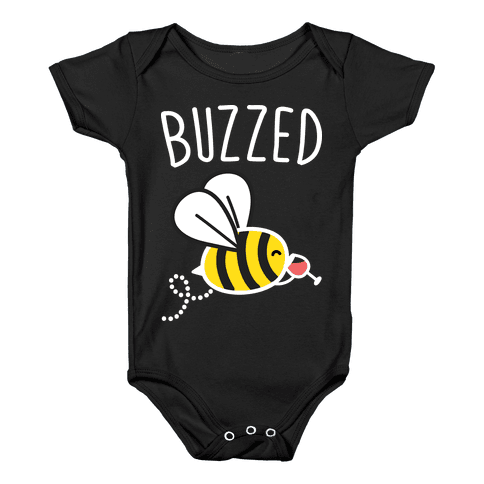 Buzzed Wine Bee Baby Onesy