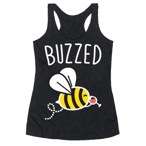 Buzzed Wine Bee Racerback Tank Top