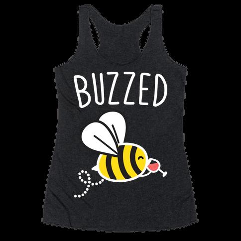 Buzzed Wine Bee Racerback Tank Top