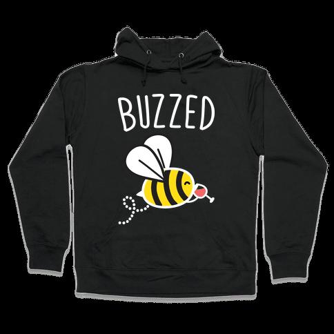Buzzed Wine Bee Hooded Sweatshirt