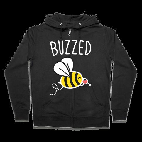 Buzzed Wine Bee Zip Hoodie