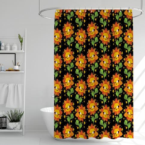 Winky Flower Pattern Shower Curtain