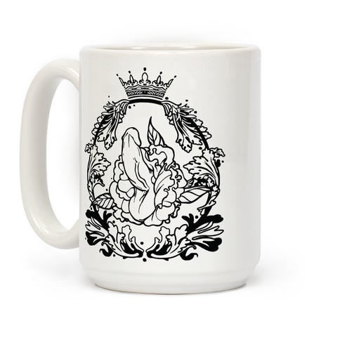 Floral Penis in Baroque Frame Coffee Mug