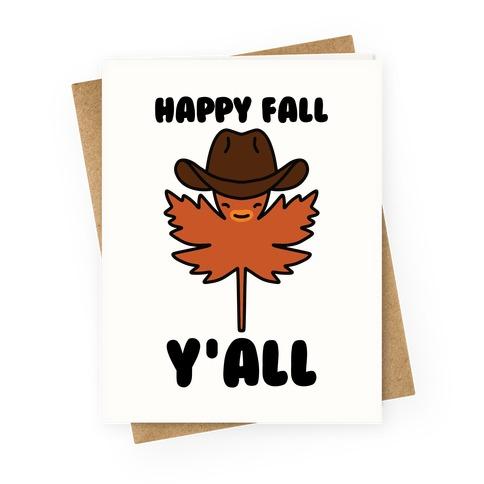 Happy Fall Y'all (Country Leaf) Greeting Card