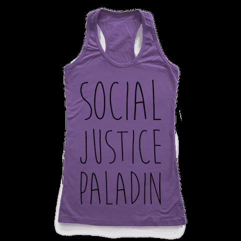 Social Justice Paladin Racerback Tank Top