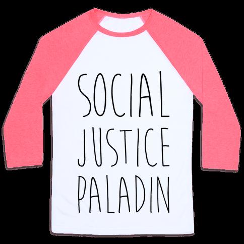 Social Justice Paladin Baseball Tee