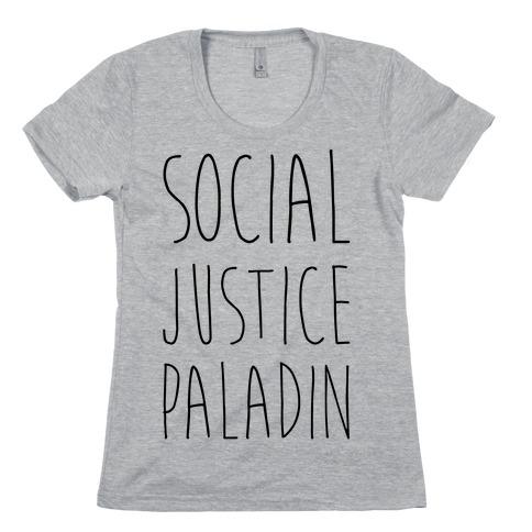 Social Justice Paladin Womens T-Shirt