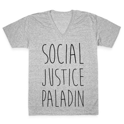 Social Justice Paladin V-Neck Tee Shirt