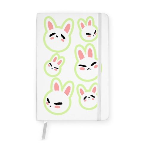 BunBun Pattern Green Notebook