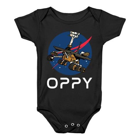 Oppy Nasa Parody Logo Baby Onesy