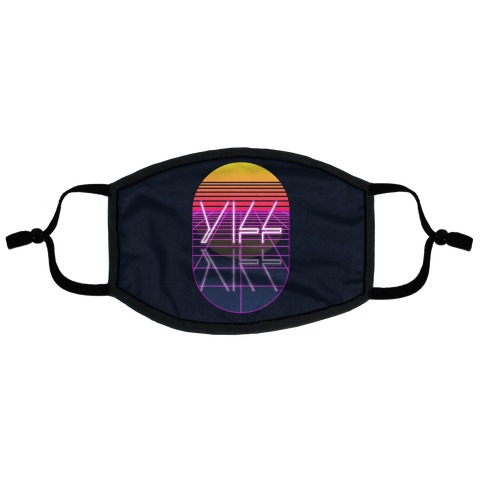 Synthwave Yiff Flat Face Mask