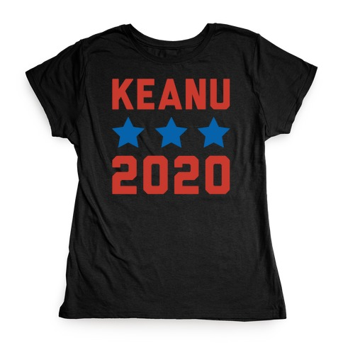 Keanu 2020 White Print Womens T-Shirt