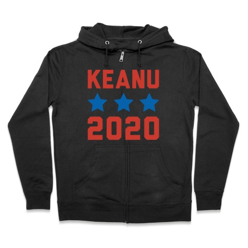 Keanu 2020 White Print Zip Hoodie