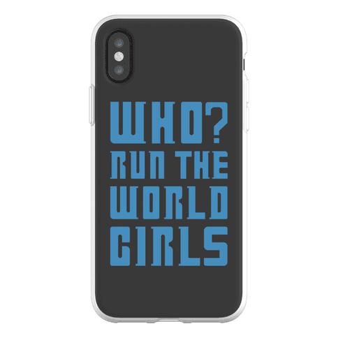 Who Run The World Girls Doctor Who Parody Phone Flexi-Case