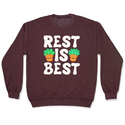 Rest Is Best White Print Pullover