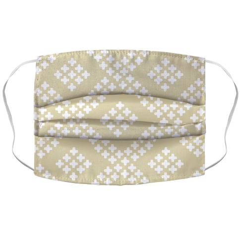 Little Cross Pattern Cream Accordion Face Mask