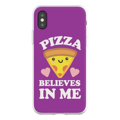 Pizza Believes In Me Phone Flexi-Case