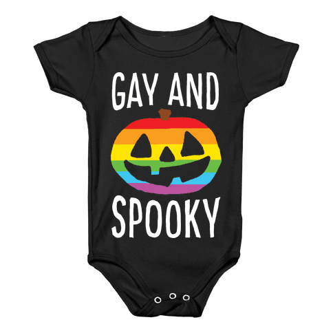 Gay And Spooky Baby Onesy