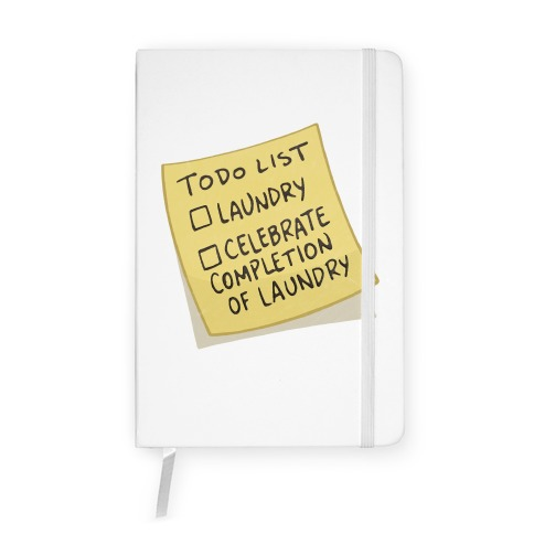 Todo List: Laundry, Celebrate Notebook