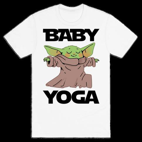 Baby Yoga Mens/Unisex T-Shirt