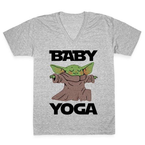 Baby Yoga V-Neck Tee Shirt