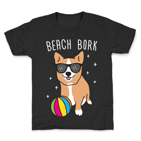 Beach Bork Corgi Kids T-Shirt