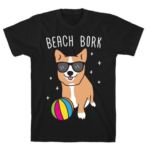 Beach Bork Corgi T-Shirt