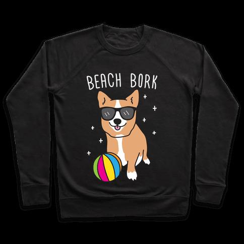 Beach Bork Corgi Pullover