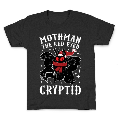Mothman The Red Eyed Cryptid Kids T-Shirt