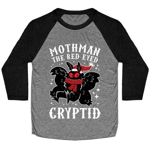 Mothman The Red Eyed Cryptid Baseball Tee
