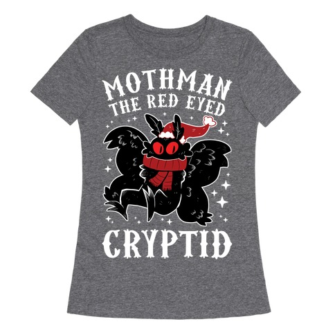 Mothman The Red Eyed Cryptid Womens T-Shirt