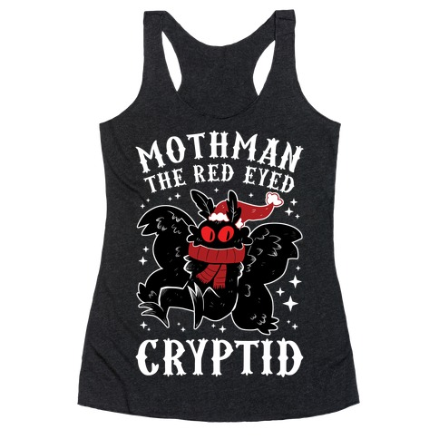 Mothman The Red Eyed Cryptid Racerback Tank Top