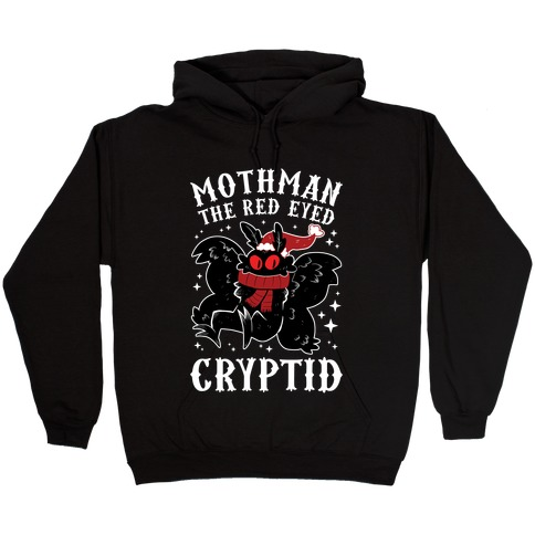 Mothman The Red Eyed Cryptid Hooded Sweatshirt