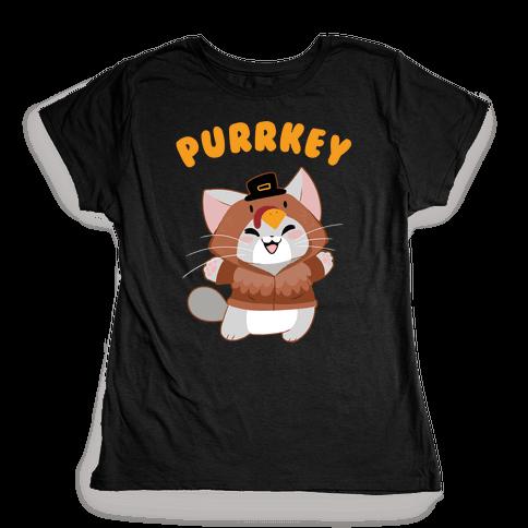 Purrkey Womens T-Shirt