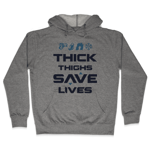 Thick Thighs Saves Lives Mei Hooded Sweatshirt