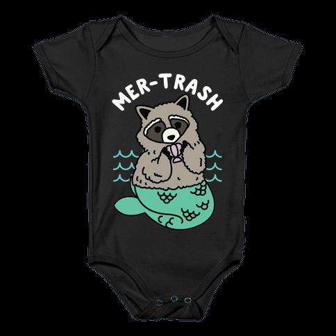 Mer-Trash Raccoon Baby Onesy