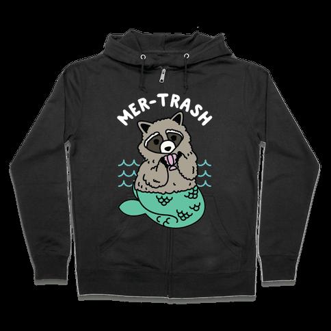 Mer-Trash Raccoon Zip Hoodie
