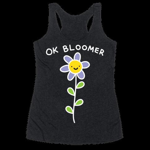 Ok Bloomer Flower Racerback Tank Top