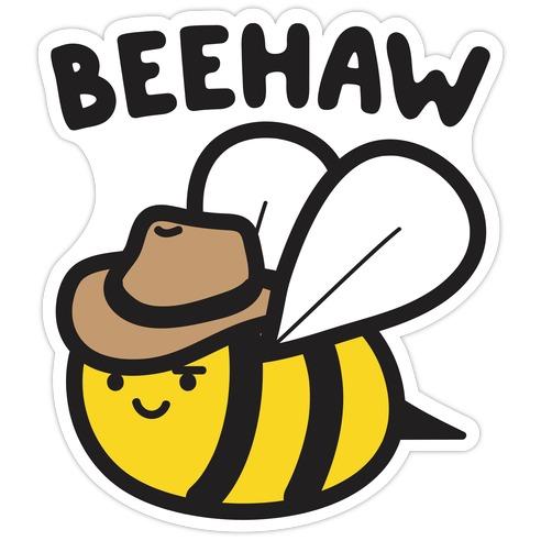 Beehaw Cowboy Bee Die Cut Sticker