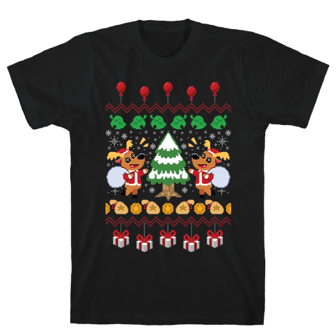 Jingle Animal Crossing Ugly Sweater Mens T-Shirt