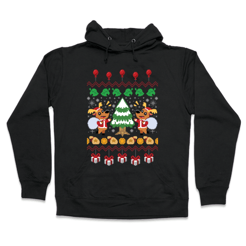 Jingle Animal Crossing Ugly Sweater Hooded Sweatshirt