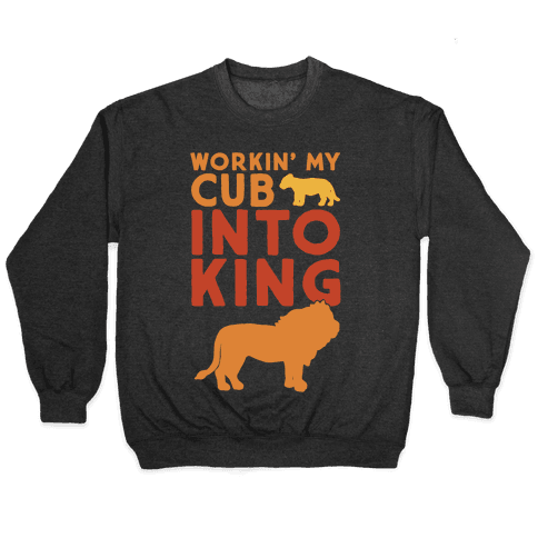 Workin' My Cub Into King White Print Pullover