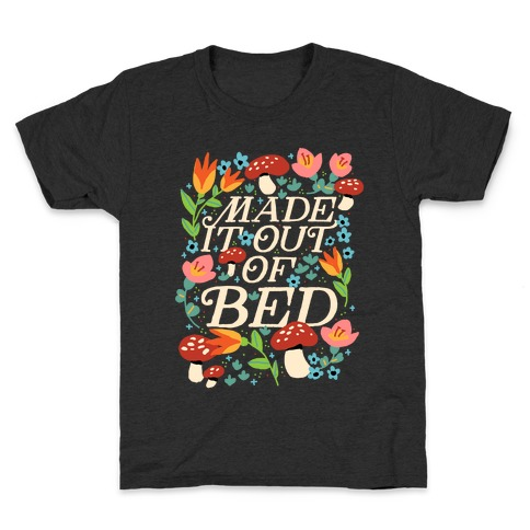 Made It Out Of Bed (Floral) Kids T-Shirt